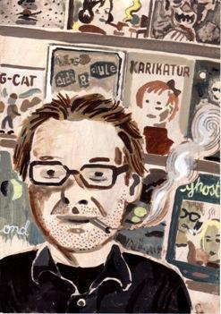 Dirk Rehm im Portrait des Comiczeichners Atak