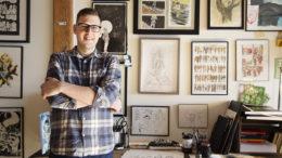 Künstler Jeff Lemire in seinem Studio (Foto von Kayla Chobotiuk)
